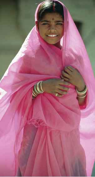 Young Poor Woman Saree