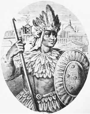 Aztec Illustrations Montezuma