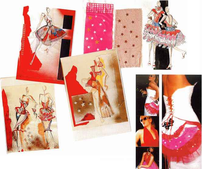 Fashion Design Theme Board Sample