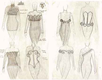 fashion mood board examples sketches fashion summer top - Fashion Design Ideas