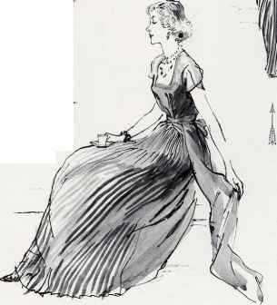 Drawing Figure With Dress