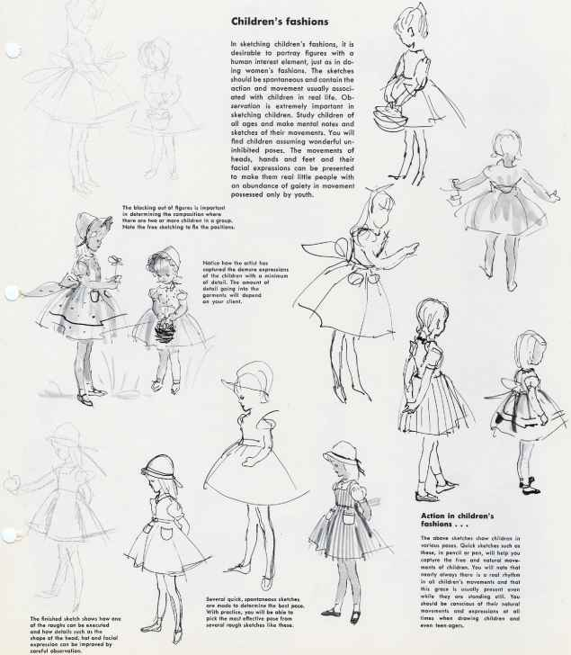 fashion drawing children - Drawing Pictures For Children