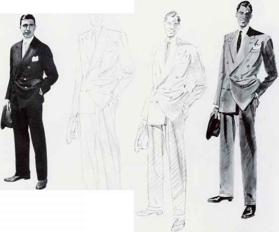 Mens Fashion Drawing Model