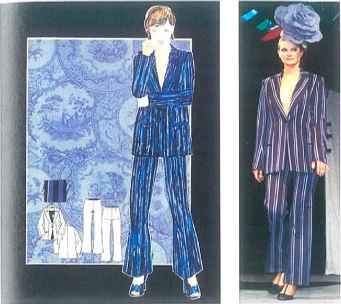 Moodboard Design Theme Blue Fashion Illustration Martel Fashion