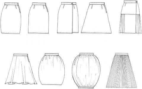 Basic Skirts With Yoke Gathers And Flare
