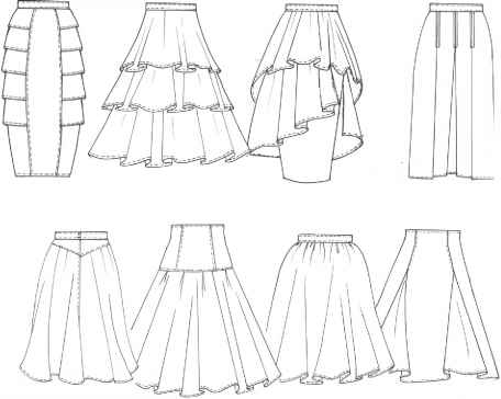 Sketch Skirt With Tiered Flounces