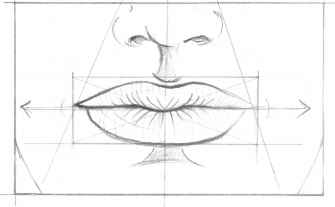 how to draw noses front on