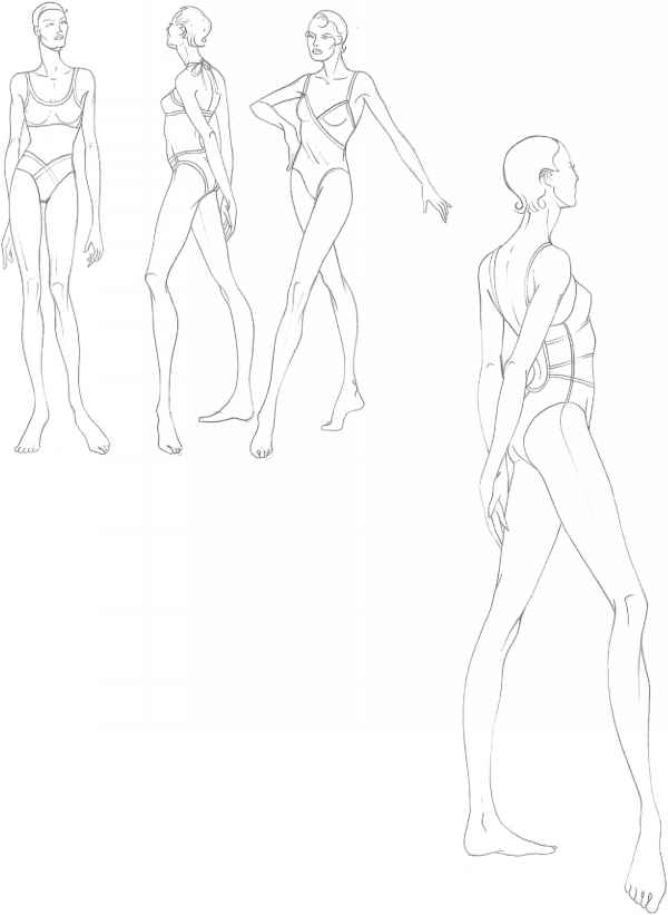 Drawing Models For Fashion Design Templates