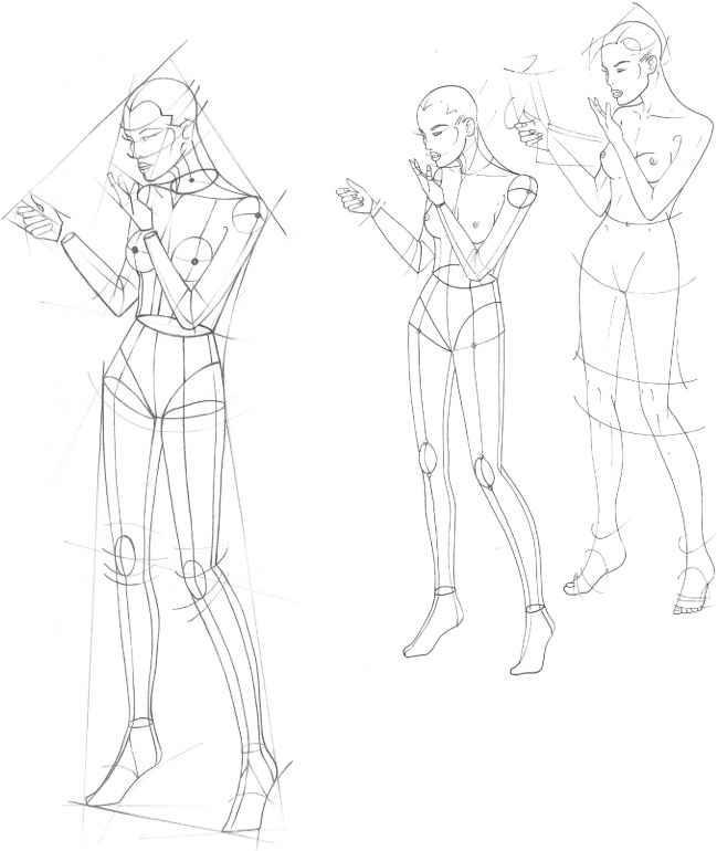 The Fashion Plate Figure Drawing Martel Fashion