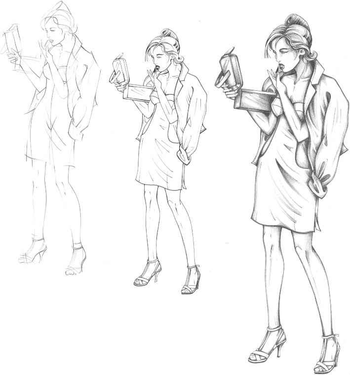 How To Draw A Body For Designing Clothes | The Fashion Plate Figure Drawing Martel Fashion