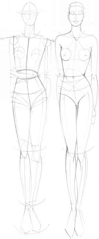 Outline Model For Sketching Clothes