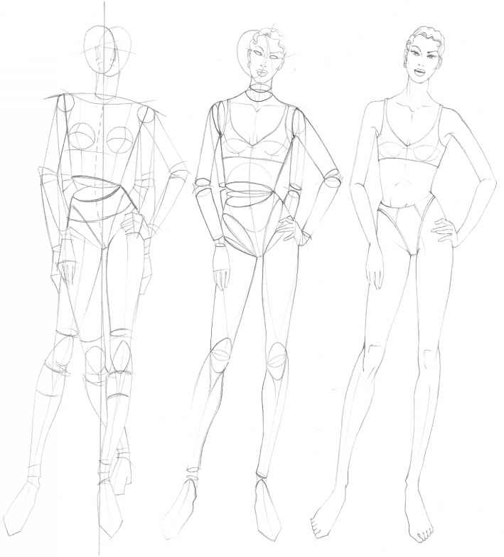 The Fashion Plate Figure Drawing Martel Fashion