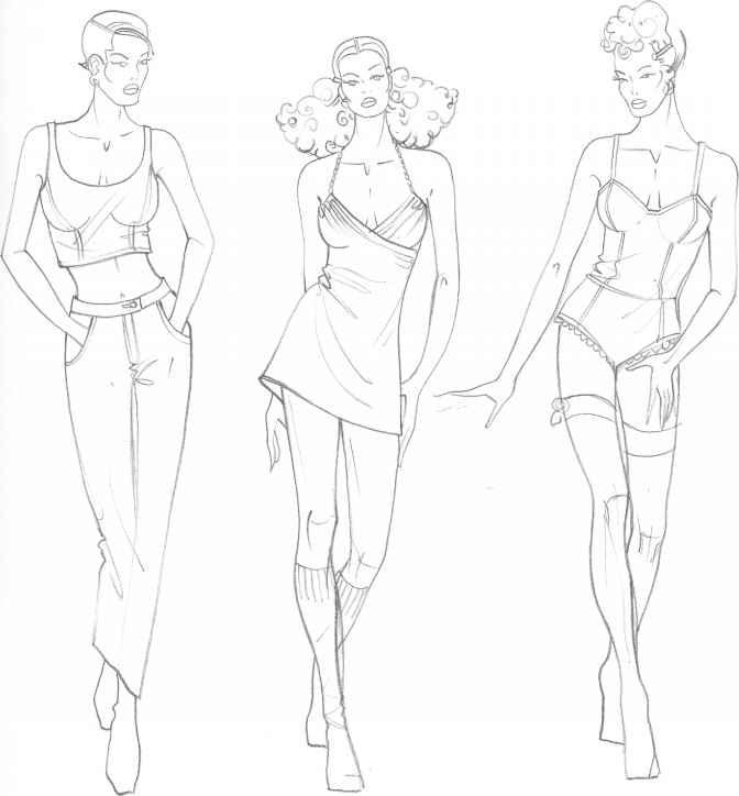 Male figure drawing, fashion drawing 14