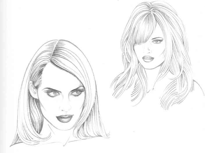 Types Of Hairstyle - Figure Drawing - Martel Fashion