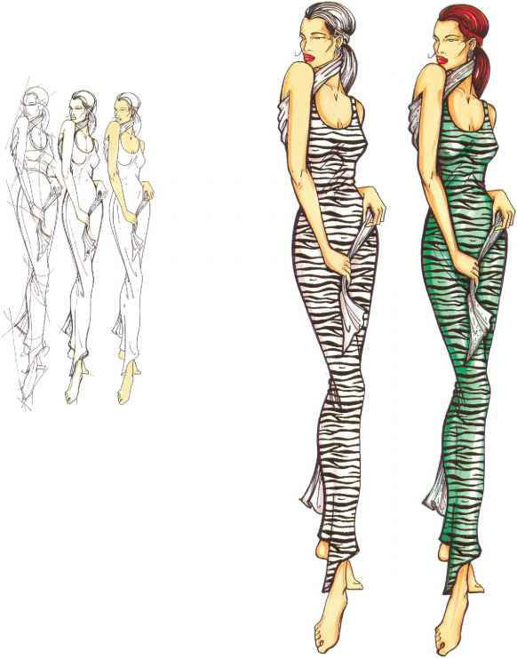 Fashion Figure Illustration