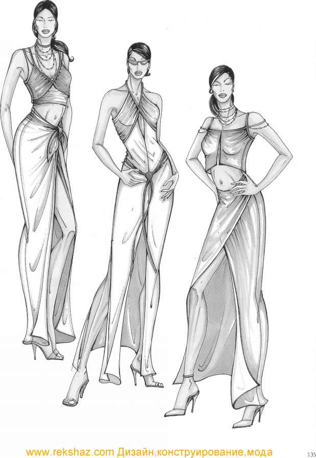 Drawing Evening Dresses