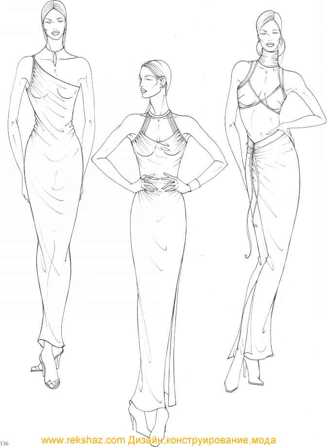 Fashion Design Figure Drawing Martel Fashion