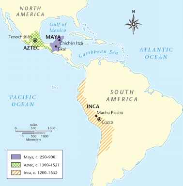 Map Of Mesoamerican Civilizations - History Costume - Martel ...