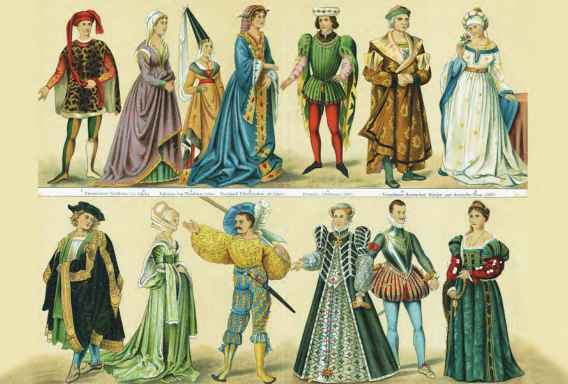 History Costume Middle Ages