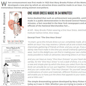 1920s Flapper Dress Pattern Review