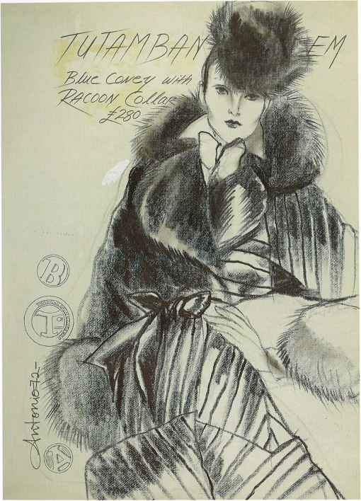 Antonio Lopez Fur For Glamour