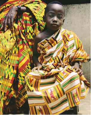 People Wearing Kente Cloth