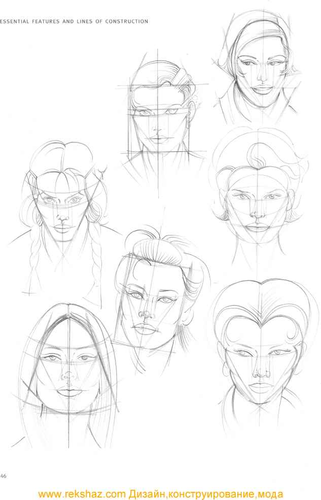 Drawing Female Head Structure