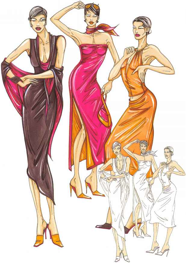Types Fashion Figure Illustration