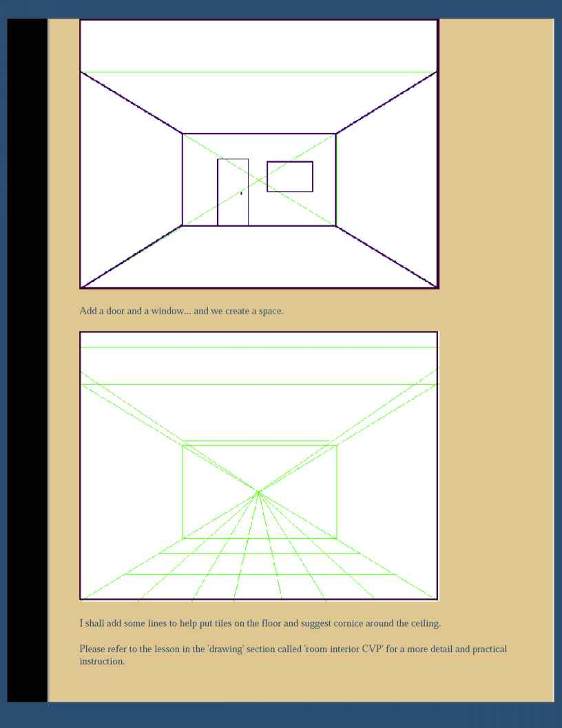 Point Perspective Drawing Lesson
