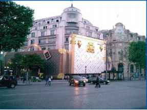 Champs Elysees Shop Facade