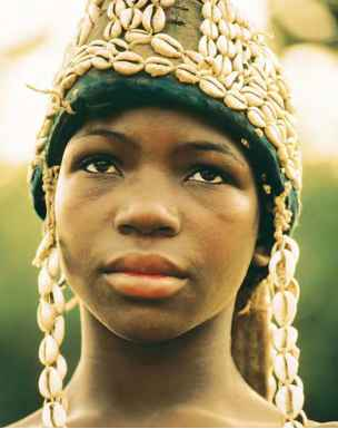 African Women And Wearing Beads