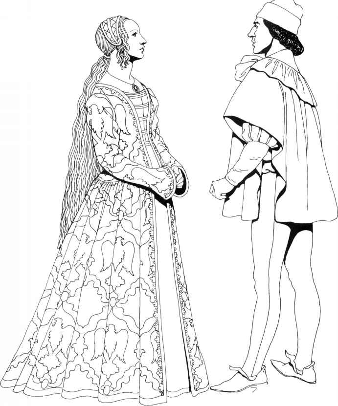 coloring pages for the renaissance - photo#18