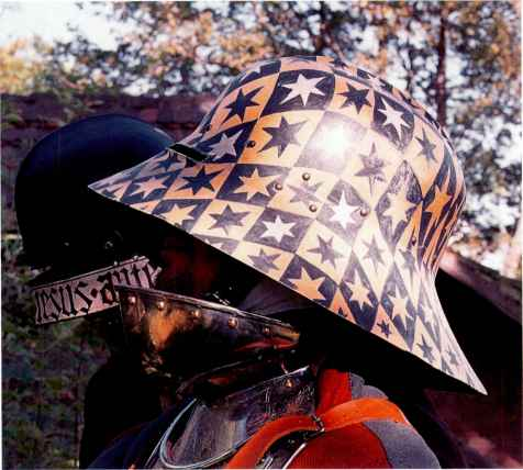 Painted Sallet Helmets